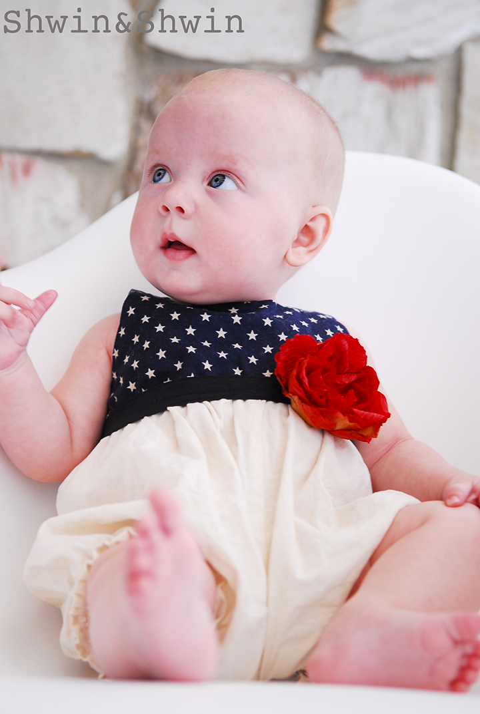 Stars And Stripes Baby Romper Free Pdf Pattern Shwin