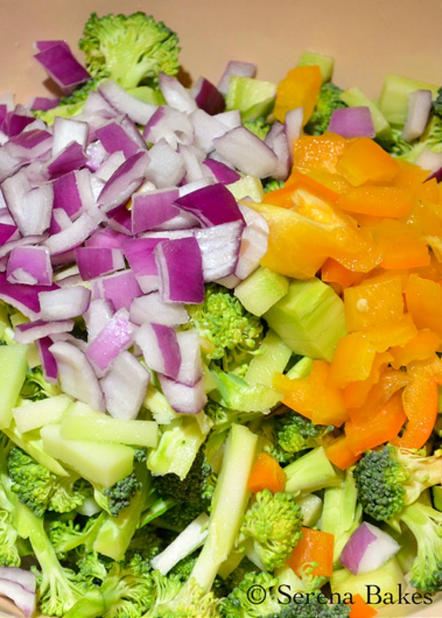 The Best crunchy Broccoli Salad recipe in a light asian dressing from Serena Bakes Simply From Scratch.