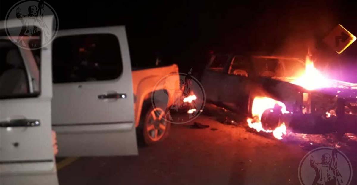 """Sicarios de """"La Linea"""" masacran convoy de policías con granadas y fusiles para rescatar a """"El H2"""" líder del Nuevo Cartel de Juárez"""