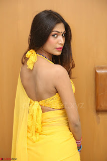 Nishigandha in Yellow backless Strapless Choli and Half Saree Spicy Pics 159.JPG