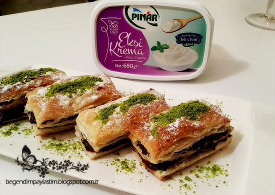 Pınar ekşi krema ile kolay mini milföy pastalar