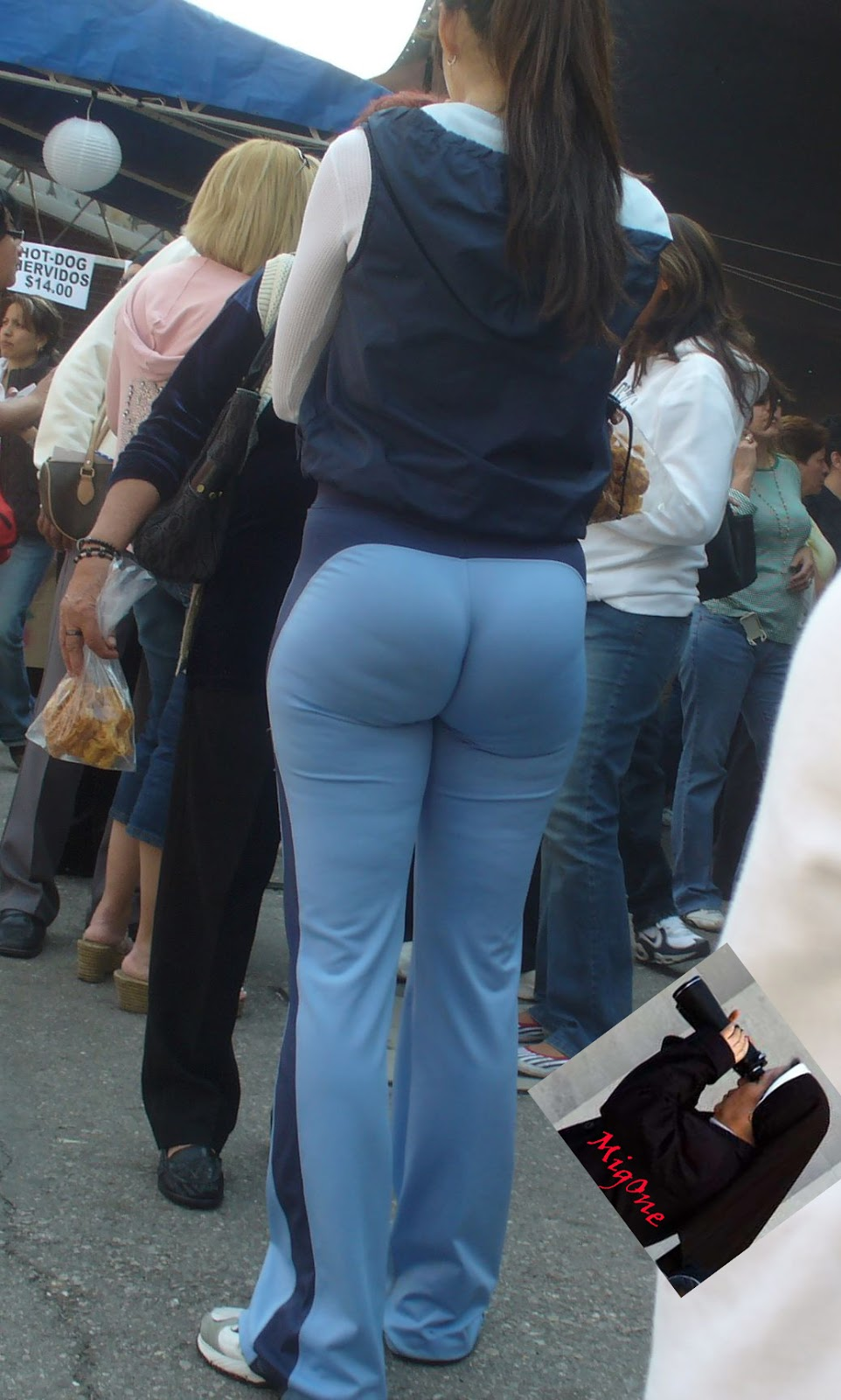 Big ass on the street