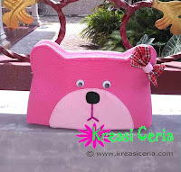 Tutorial Membuat Dompet Pensil Teddy Bear dari Kain Perca