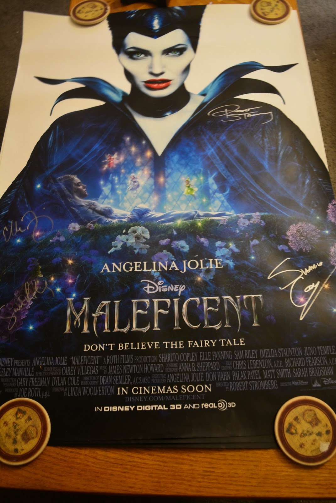Sasaki Time: Giveaway: Autographed Disney's Maleficent