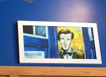 Dr. Who art at Blue Box Cafe in Elgin, Illinois