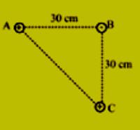 Contoh soal gaya listrik 3 muatan