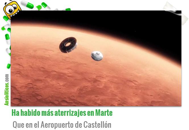 Chiste de Aterrizajes en Marte y el Aeropuerto de Castellón