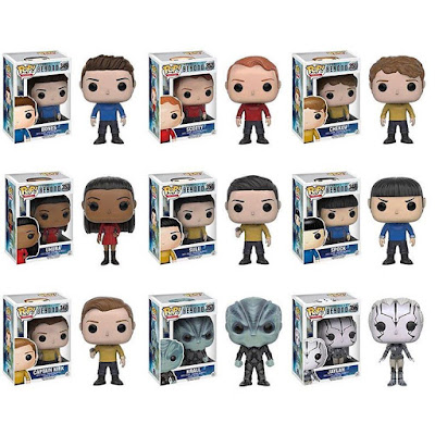Star Trek Beyond Pop! Movies Vinyl Figure Series by Funko - Captain Kirk, Spock, Bones, Uhura, Sulu, Chekov, Scotty, Jaylah & Krall