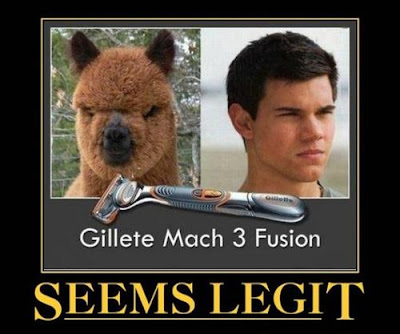 Gillete Mach 3 Fusion Llama Twilight