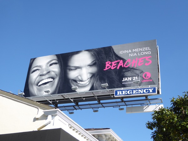 Beaches movie remake billboard
