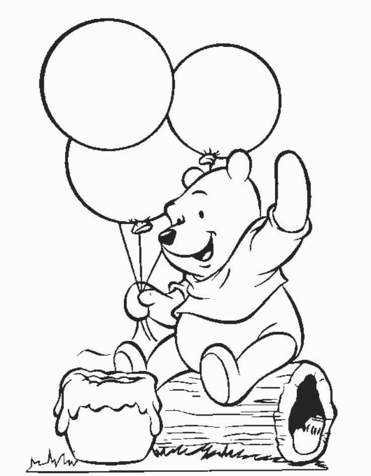 Tranh tô màu chú gấu đáng yêu, dễ thương cho các bé tập tô 2