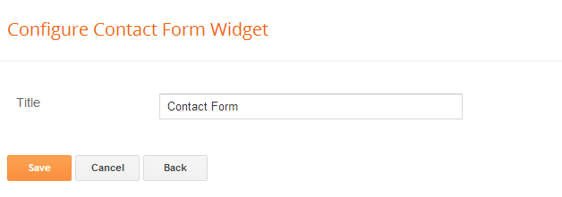 configure contact form