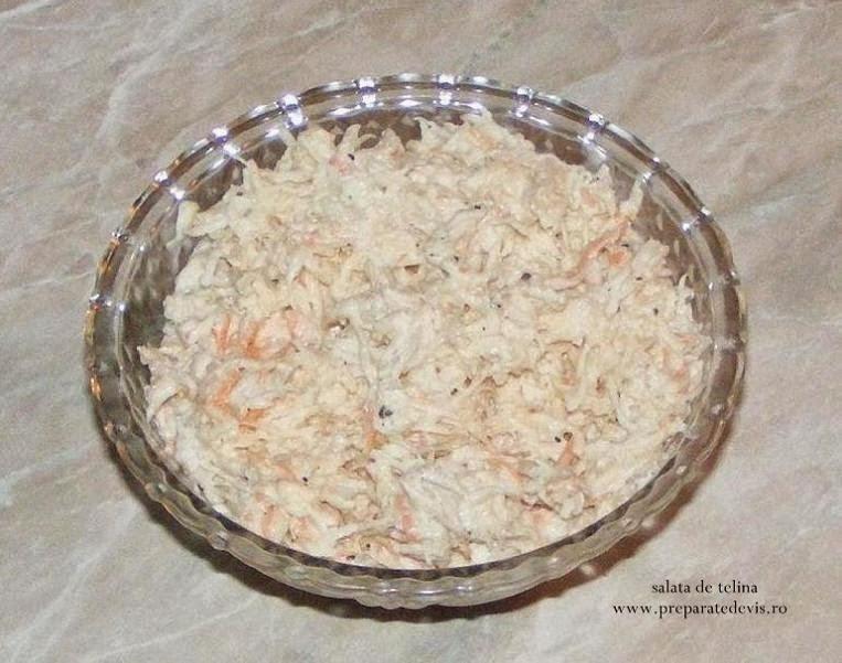 Salata de telina reteta,