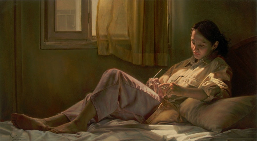 14-Sunlight-Iman-Maleki-Realistic-Paintings-that-Portray-Intense-Expressions-www-designstack-co