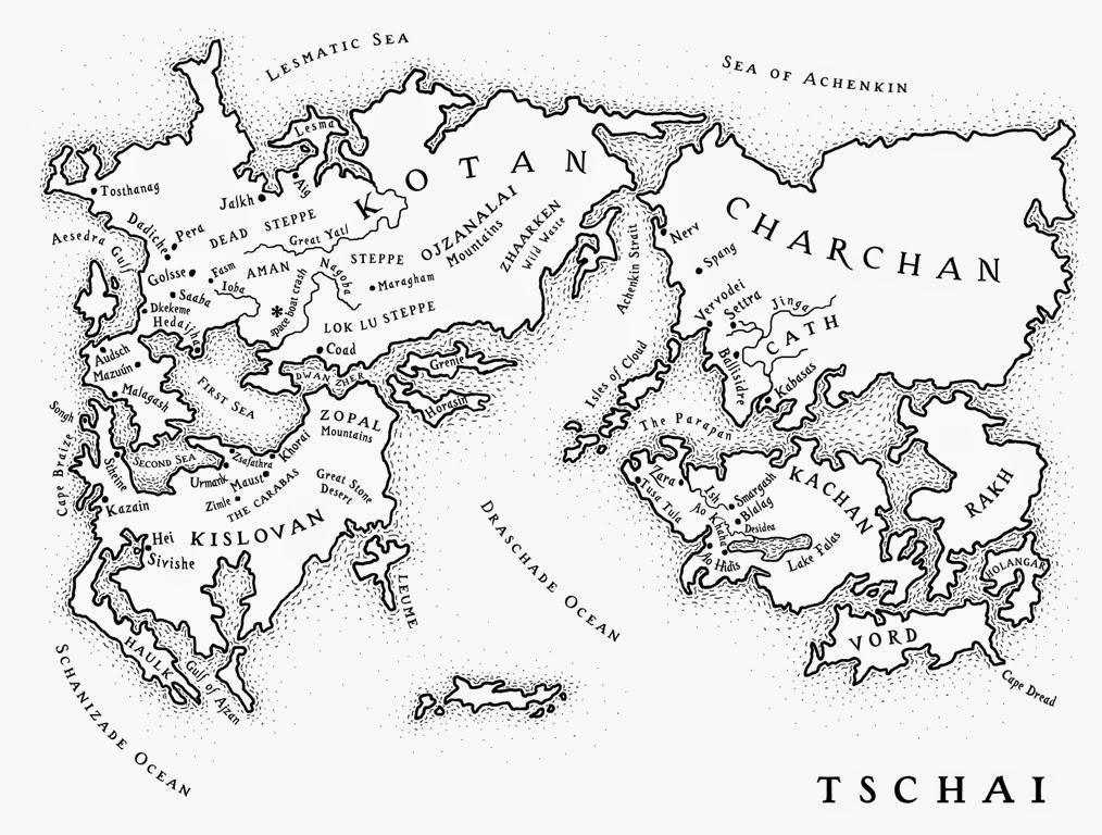 Ciclo de Tschai mapa