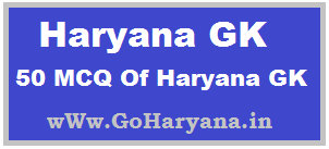 Haryana GK in English