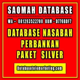 Jual Database Nasabah Perbankan - Paket Silver