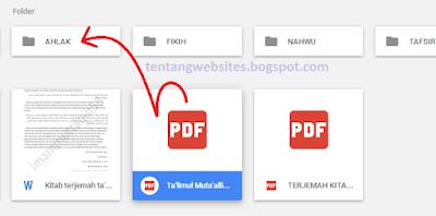 Cara cepat memindahkan file ke folder di Google drive