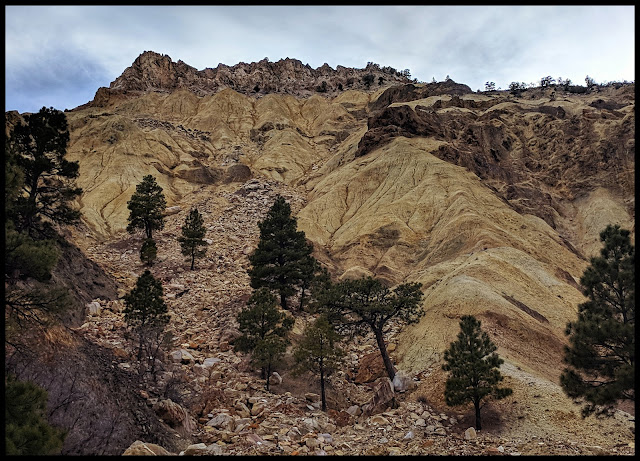 Yellow Mountains around Candy Mountain Sevier Utah