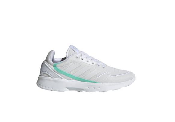 adidas Performance Pantofi sport femei albi de plasa cu amortizare Nebzed