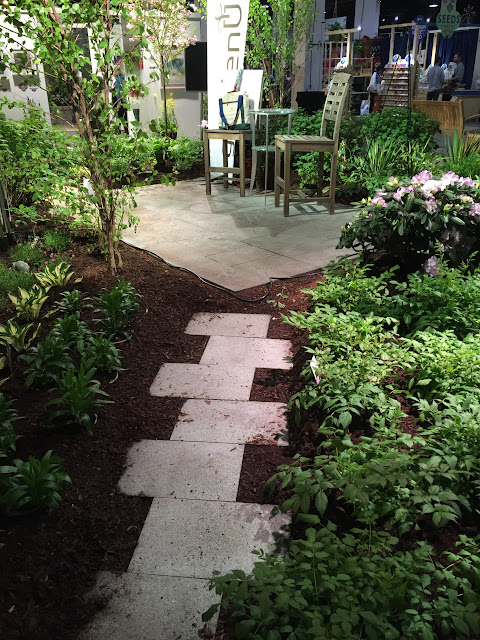 Simple Garden Pathway at the flower show.