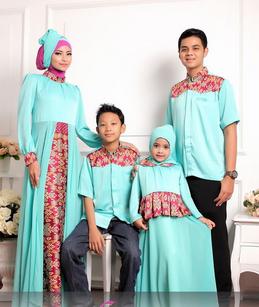 baju batik muslim couple modern 2017