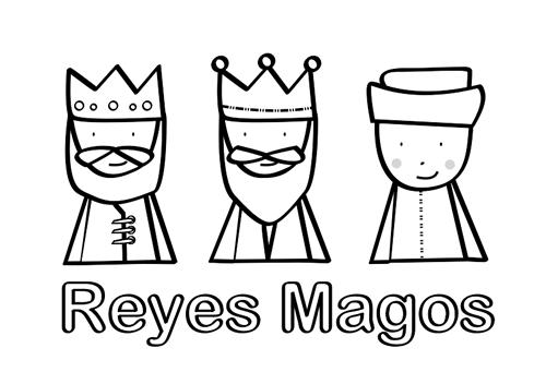 Dibujos De Los 3 Reyes Magos Para Colorear: Dibujos Para Colorear: Reyes Magos Para Colorear