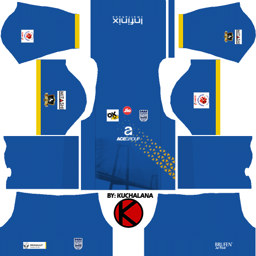bfa7985d667 Mumbai City Fc 2018 Dream League Soccer Kits Kuchalana