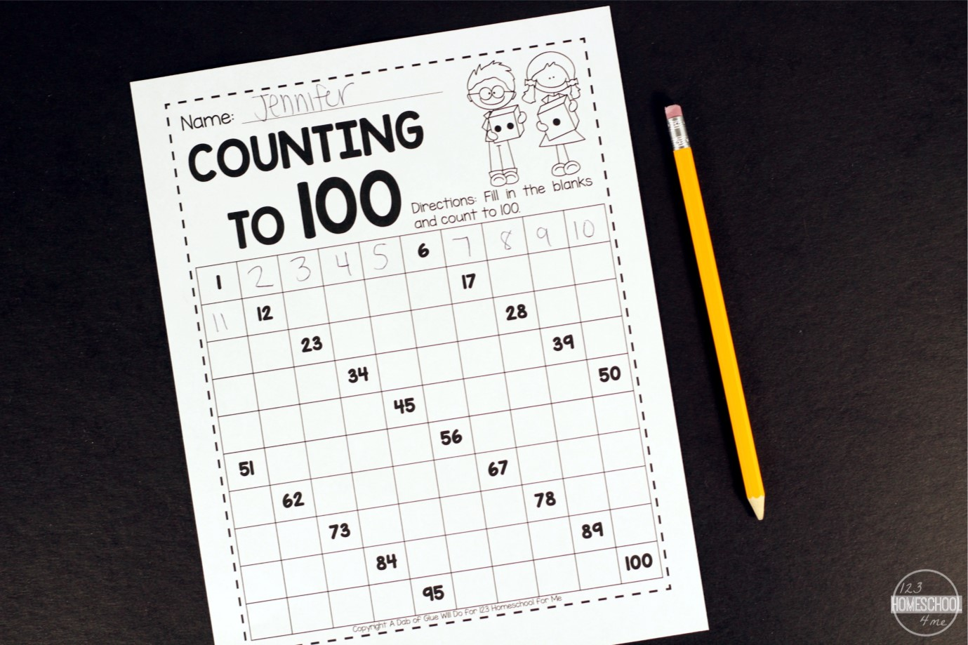 Workbooks learning to count to 100 worksheets : FREE Count to 100 Math Game