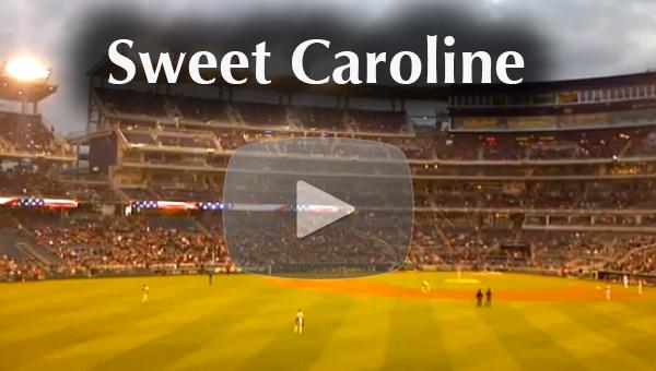 Woeful Nats: Washington Nationals Fans Sing Sweet Caroline ...