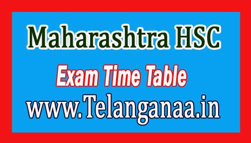 Maharashtra HSC Time Table 2017 Download