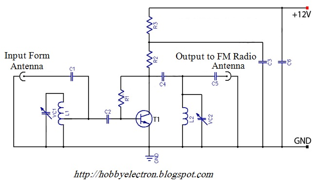 Hobby in Electronics: Active FM Antenna Amplifier of FM