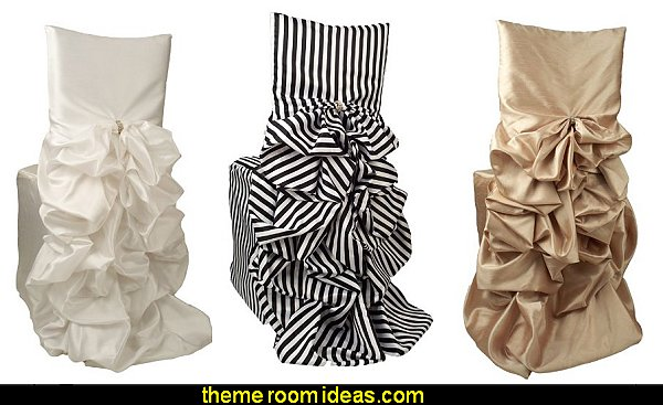 Satin Diana Stripe Chiavari Chair Cover Iridescent Taffeta Chair Cover