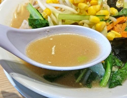 青菜野菜ちゃんぽんのスープの写真