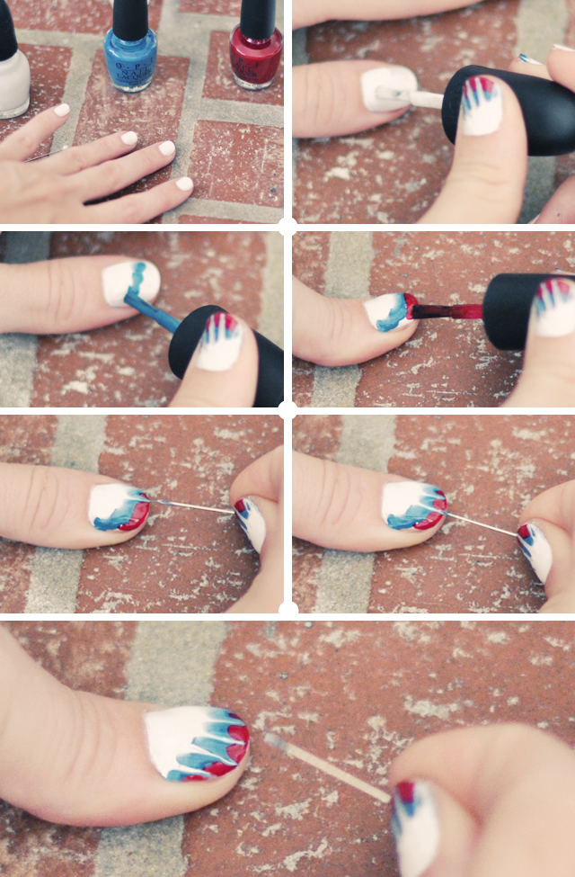 Easy Tie Dye Tips And Step By Step Instructions: 25 Best & Easy Nail Art Tutorials 2012 For Beginners