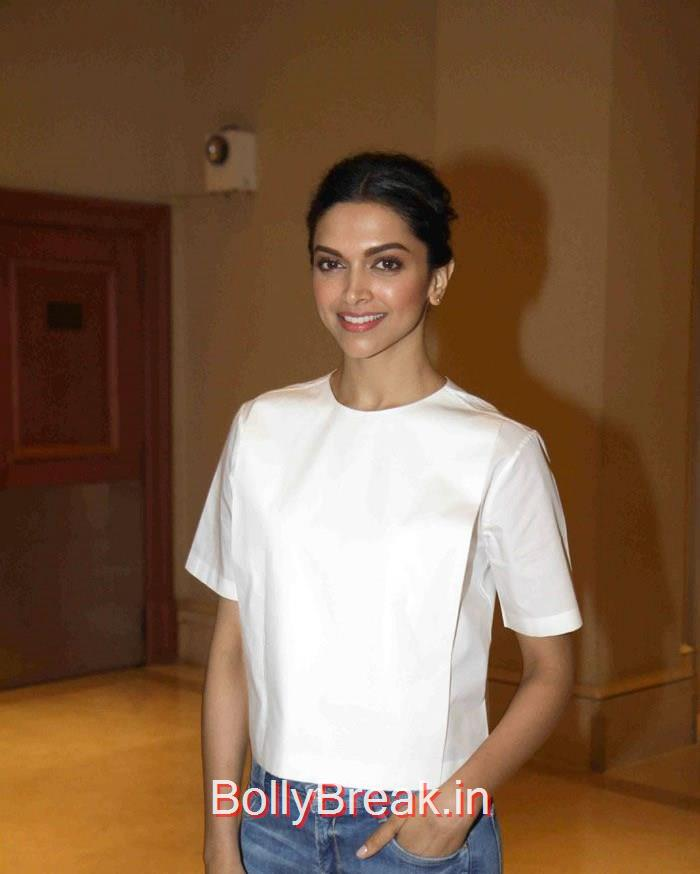 Deepika Padukone, Deepika Padukone in Jeans & Top at Piku movie Press Conference