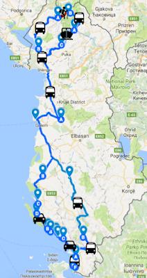 Itinéraire roadtrip de 15 jours en Albanie