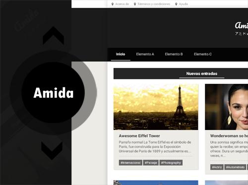 Amida – plantilla personal blog responsive, blogger