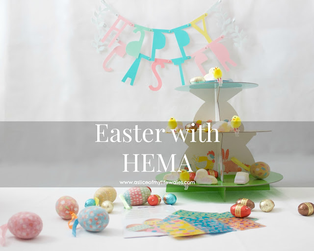 Easter with HEMA easter chocolates, decorations, marshmallows and egg decals from HEMA