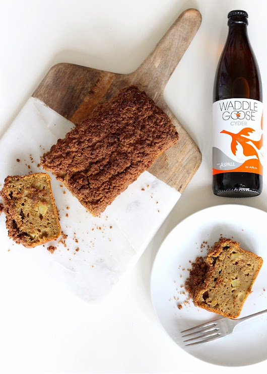 Cider Crumble Cake with Rhubarb & Waddlegoose Cyder