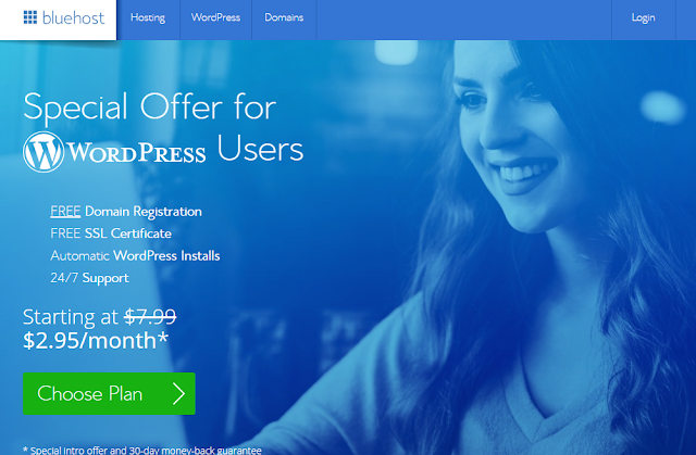 أنشئ موقعك بسهولة كأنك على الفيسبوك مع شركة الاستضافة العملاقة BlueHost
