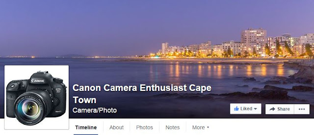 Visit / Like the Canon Camera Enthusiast Cape Town Facebook Page