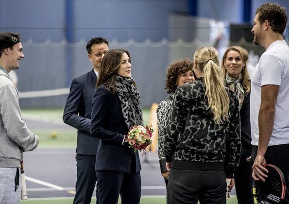Princess Mary attended a tennis event of Children's Aid Day