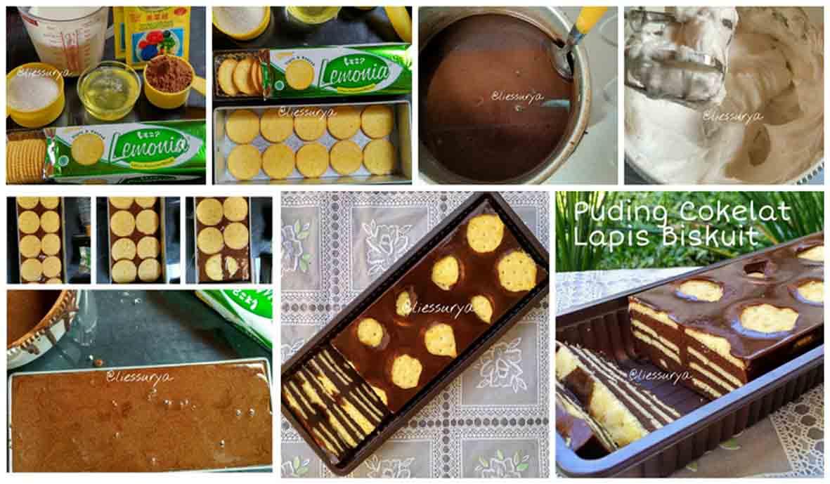 Puding Cokelat Biskuit Lemon