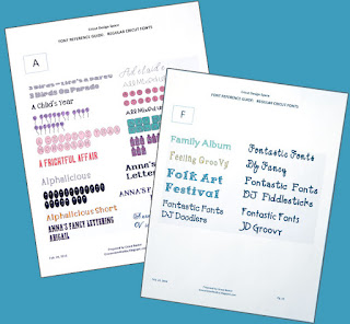 Font Reference Guide: Cricut Design Space, by Grace Baxter