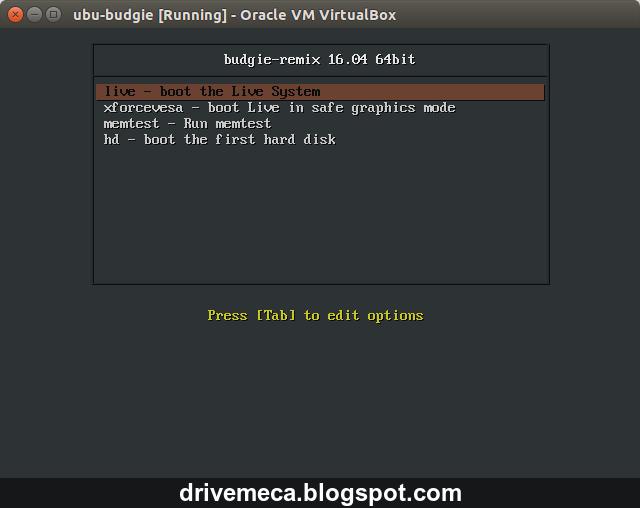 DriveMeca instalando y configurando Ubuntu Budgie 16.04 paso a paso