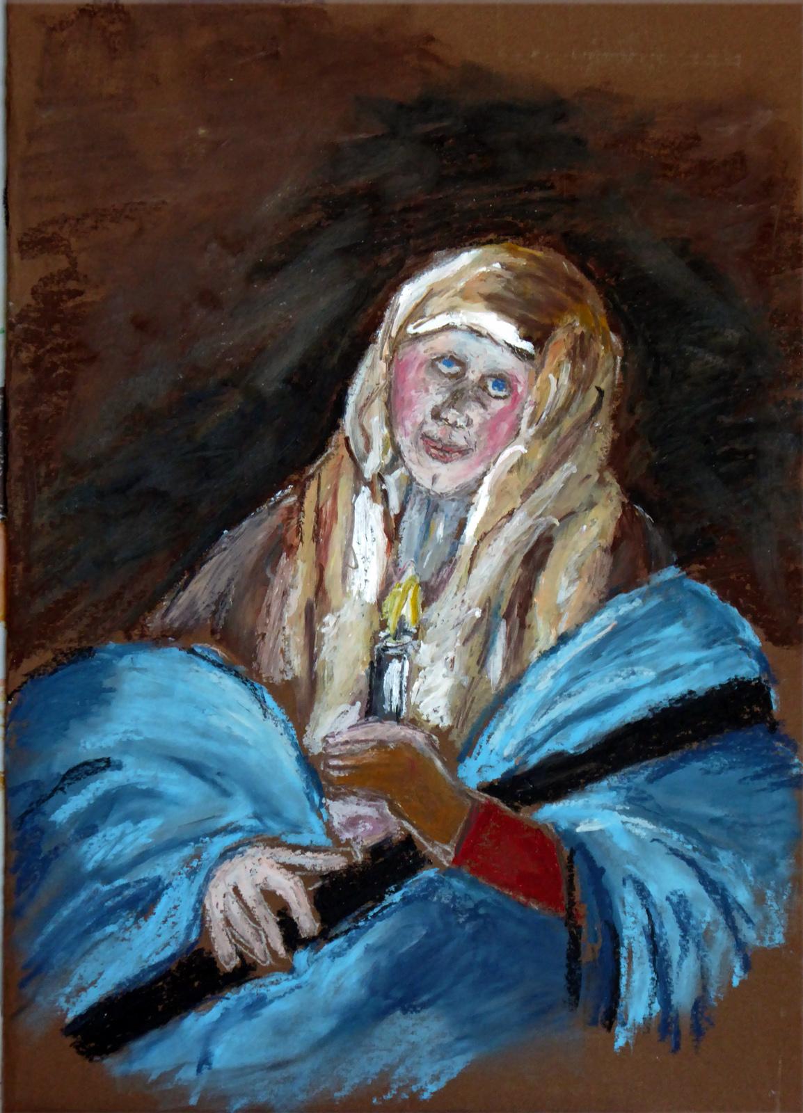Art de vivre la peinture de peintrefiguratif croquis au pastel gras au louvre reproduction du for Peinture pastel gras