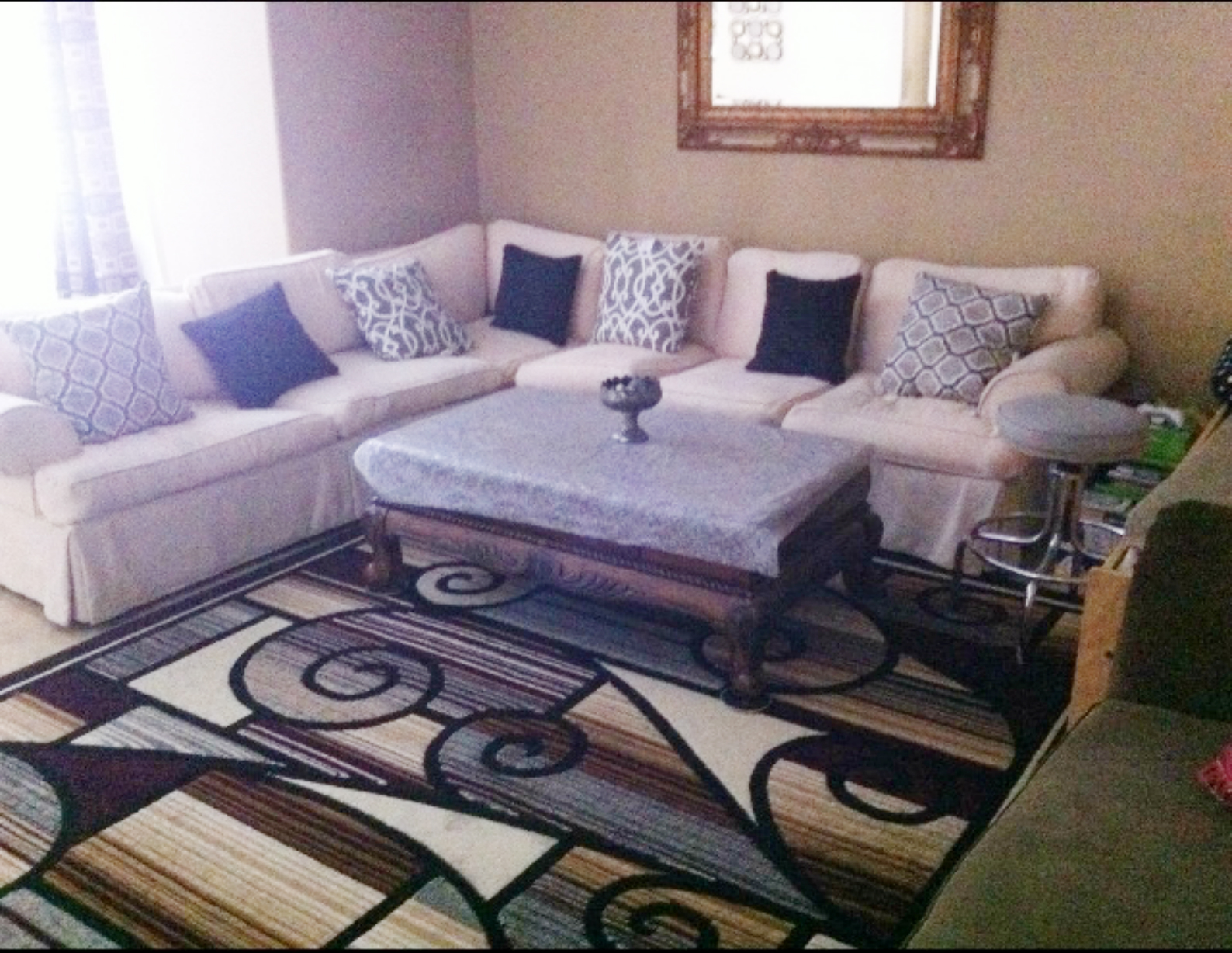 client before photo contemporary living room interior design project