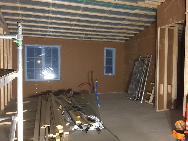keittiön seinät levytettynä, keittiön seinien levytys, väliseinä, väliseinät