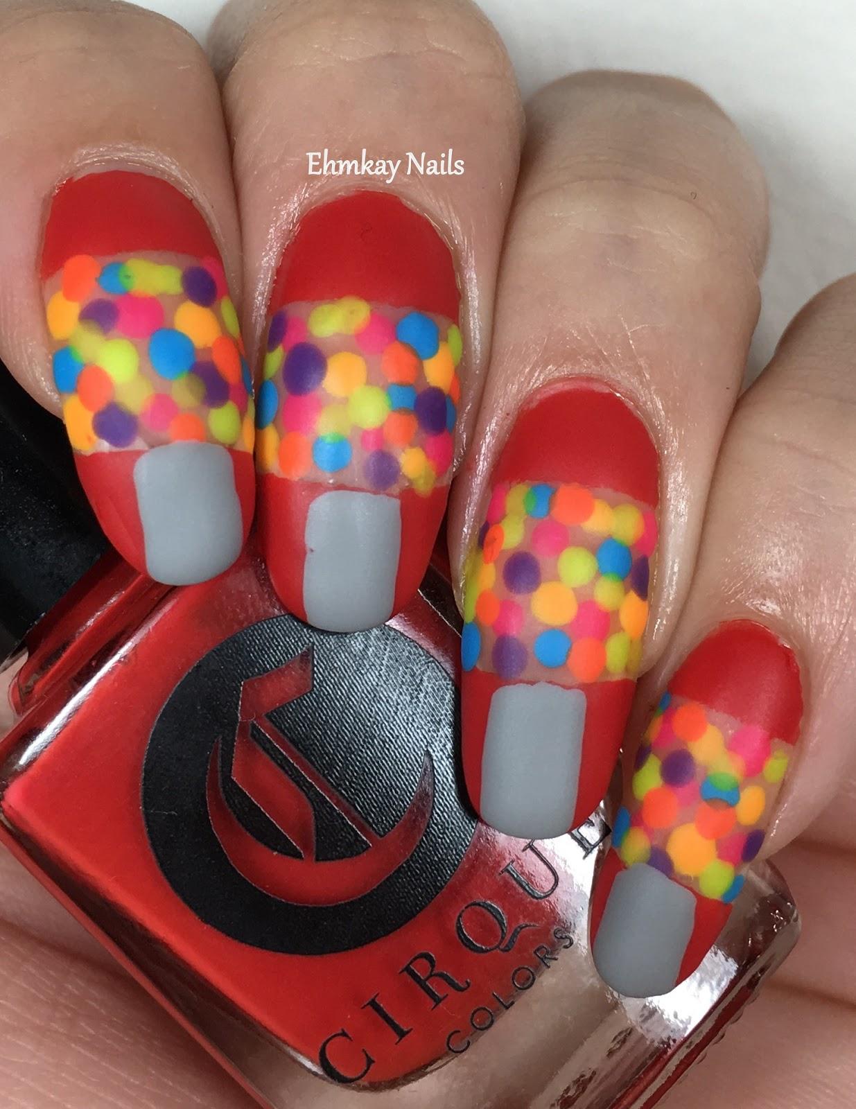 ehmkay nails: Gumball Machine Nail Art